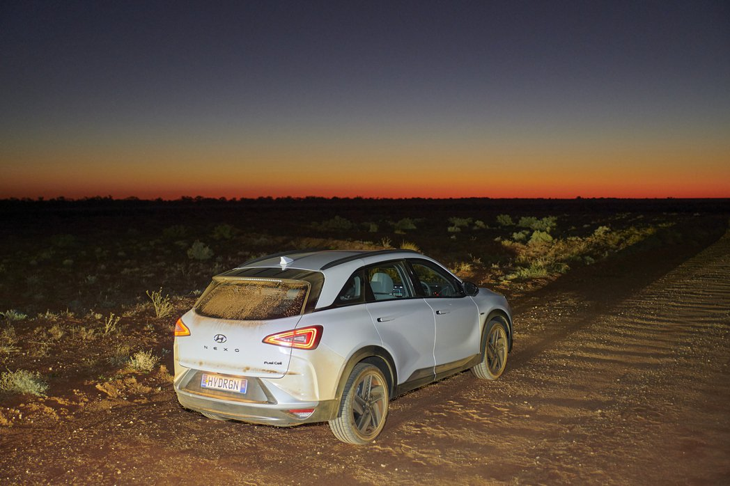 Hyundai Nexo這回在澳洲的大長征共花費了13小時又6分鐘,從清晨開到了...