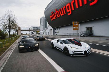 Bugatti紐柏林進行測試Chiron四天王一同亮相 總價超過2,000萬歐元!