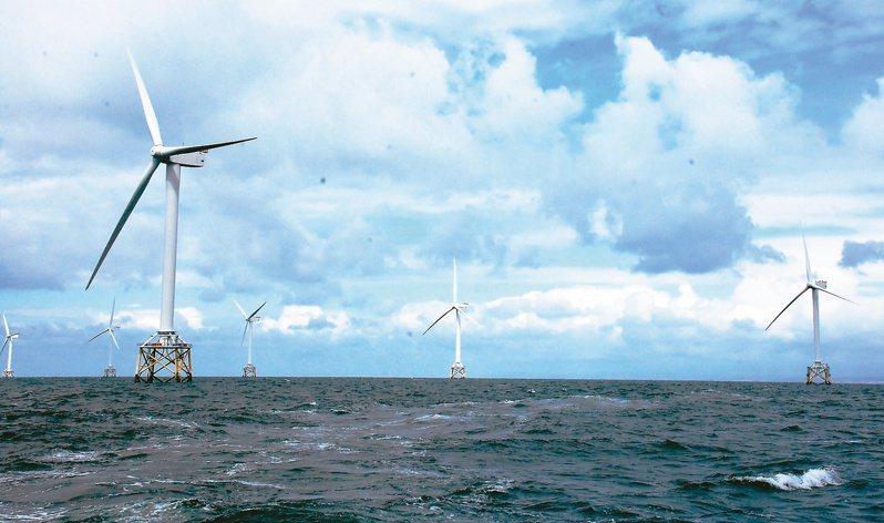 離岸風電示意圖。本報資料照片