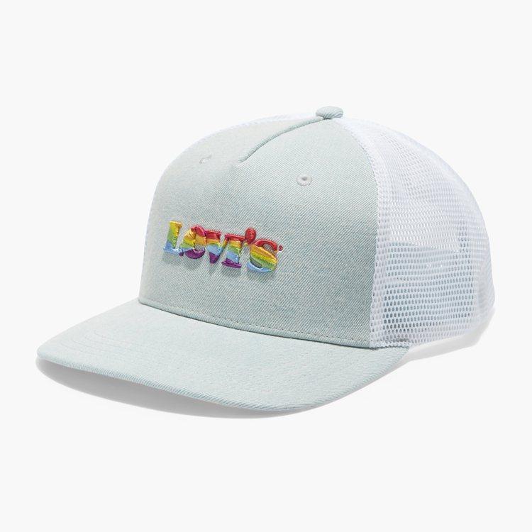 LEVI'S®限定Pride系列彩虹波浪紋棒球帽1,290元。圖/ L...