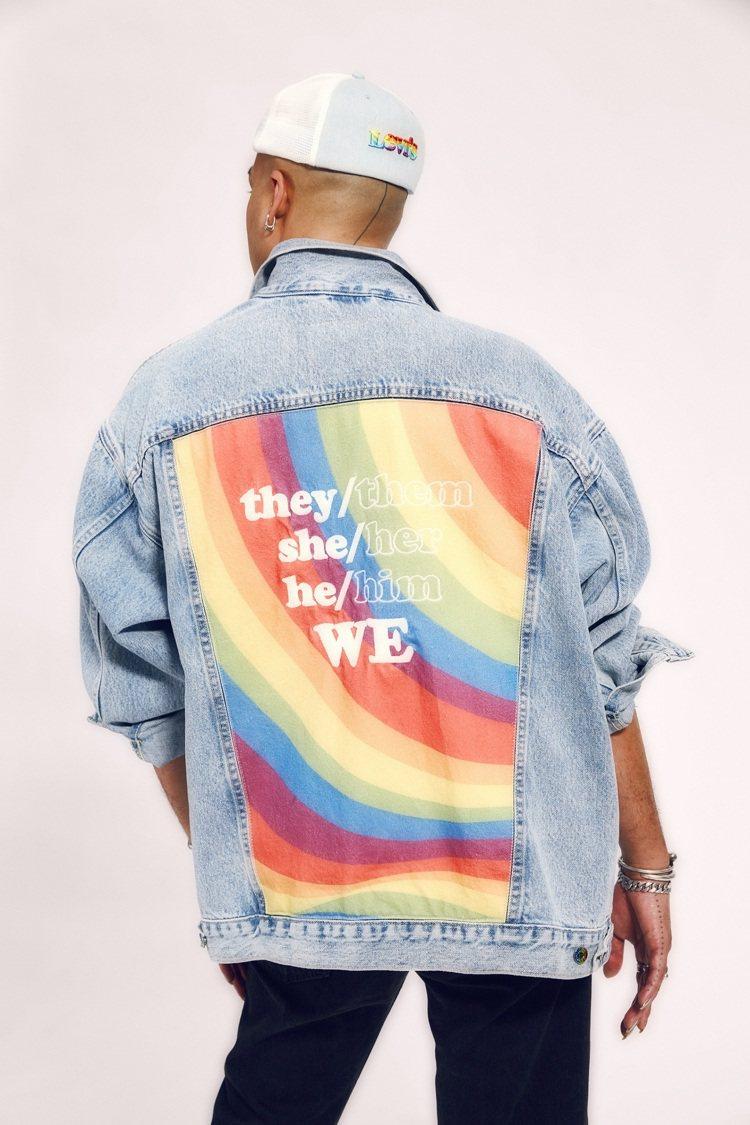 LEVI'S®限定Pride系列丹寧夾克外套4,390元。圖/ LEV...