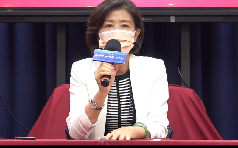 國民黨文傳會主委王育敏。圖/翻攝國民黨記者會直播