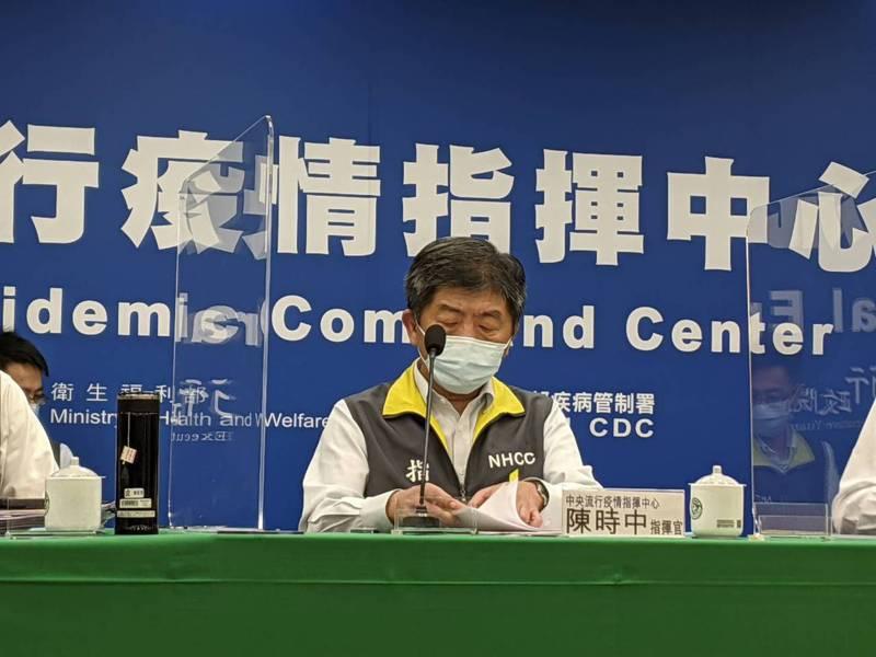 陳時中表示,現在還不敢講疫情平穩,但是看到這兩周下來的防疫措施民眾配合達到穩定。記者謝承恩/攝影