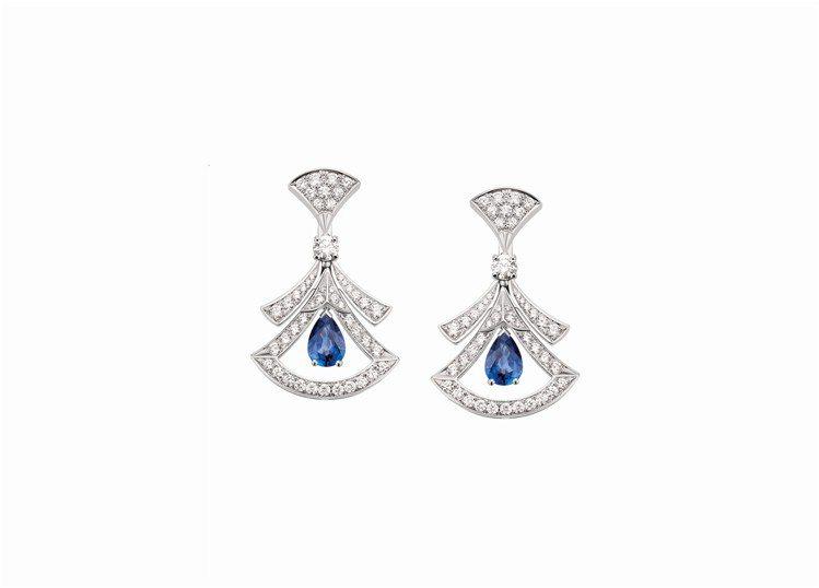 BVLGARI Divas' Dream系列藍寶石與鑽石耳環,約63萬...