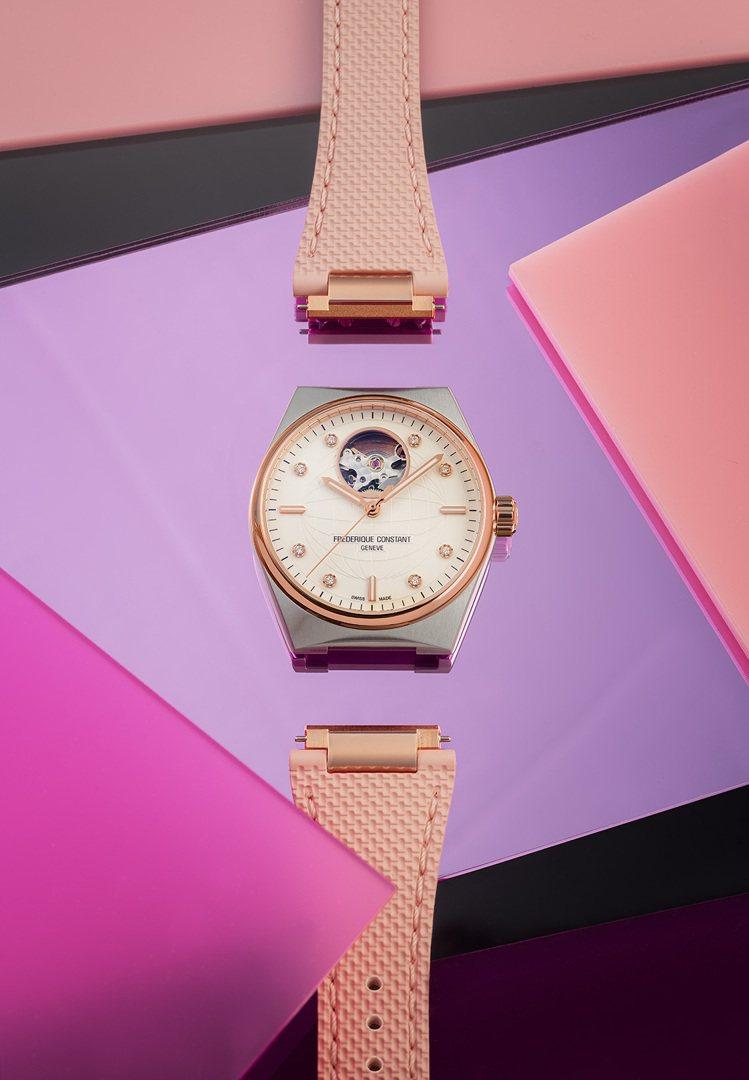 康斯登三款女性腕表都具備表帶快拆系統,展現新時代的行動力。圖 / 康斯登提供。