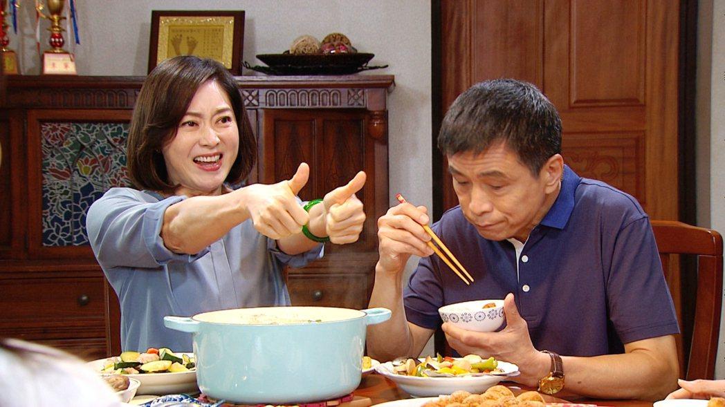 劉瑞琪(左)、李天柱在「三隻小豬的逆襲」中飾演夫妻。圖/三立提供