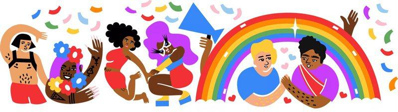 同志驕傲月Facebook首頁換上限定品牌標誌,見證彩虹力量。圖/Facebook提供