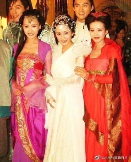《仙劍3》3女神,唐嫣(左起)、楊冪、劉詩詩。 圖/擷自微博