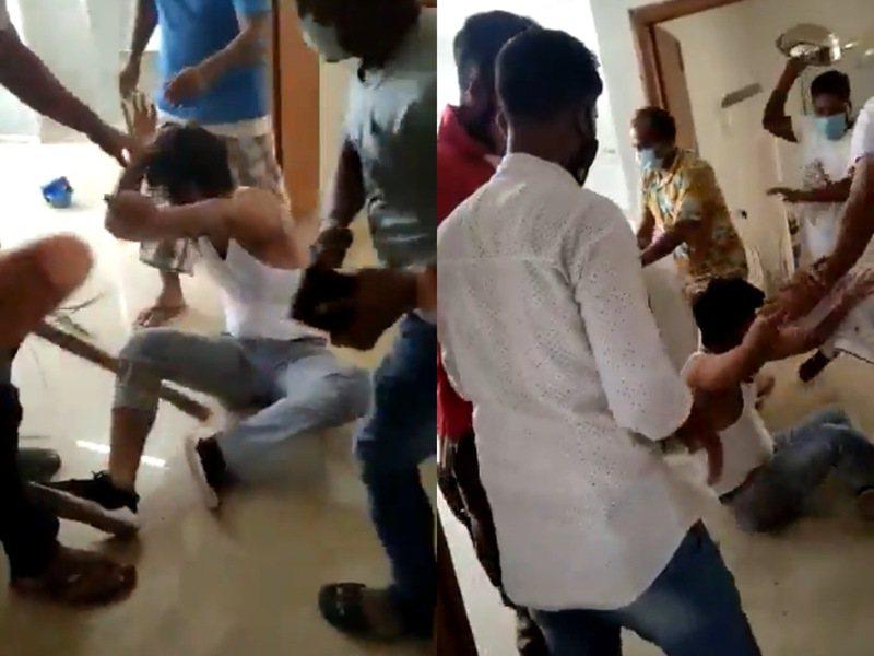 印度一名新冠病患不幸過世,家屬得知後竟圍毆醫師洩憤。 圖擷自twitter