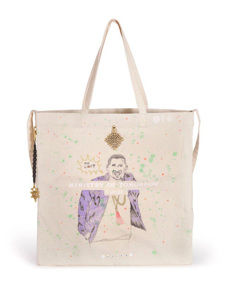 巨星Usher為此次慈善拍賣創作的托特包之一。圖/佳士得提供