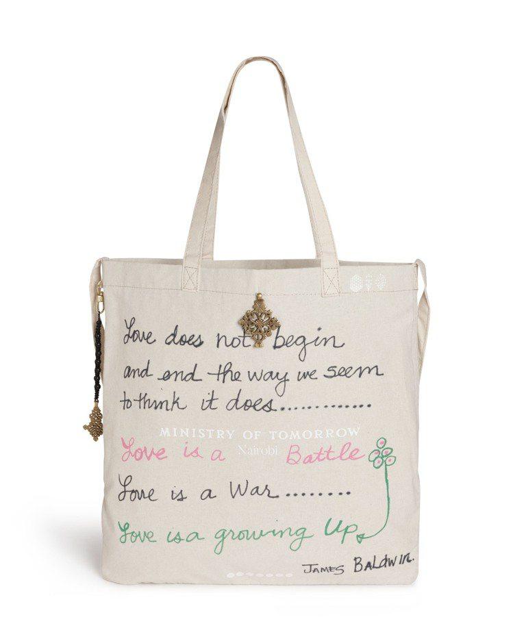 瑪丹娜為此次慈善拍賣創作的托特包。圖/佳士得提供