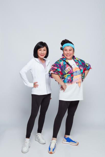 吳淡如(左)和林美秀終於合體拍廣告。圖/PP 石墨烯懶人塑崩褲
