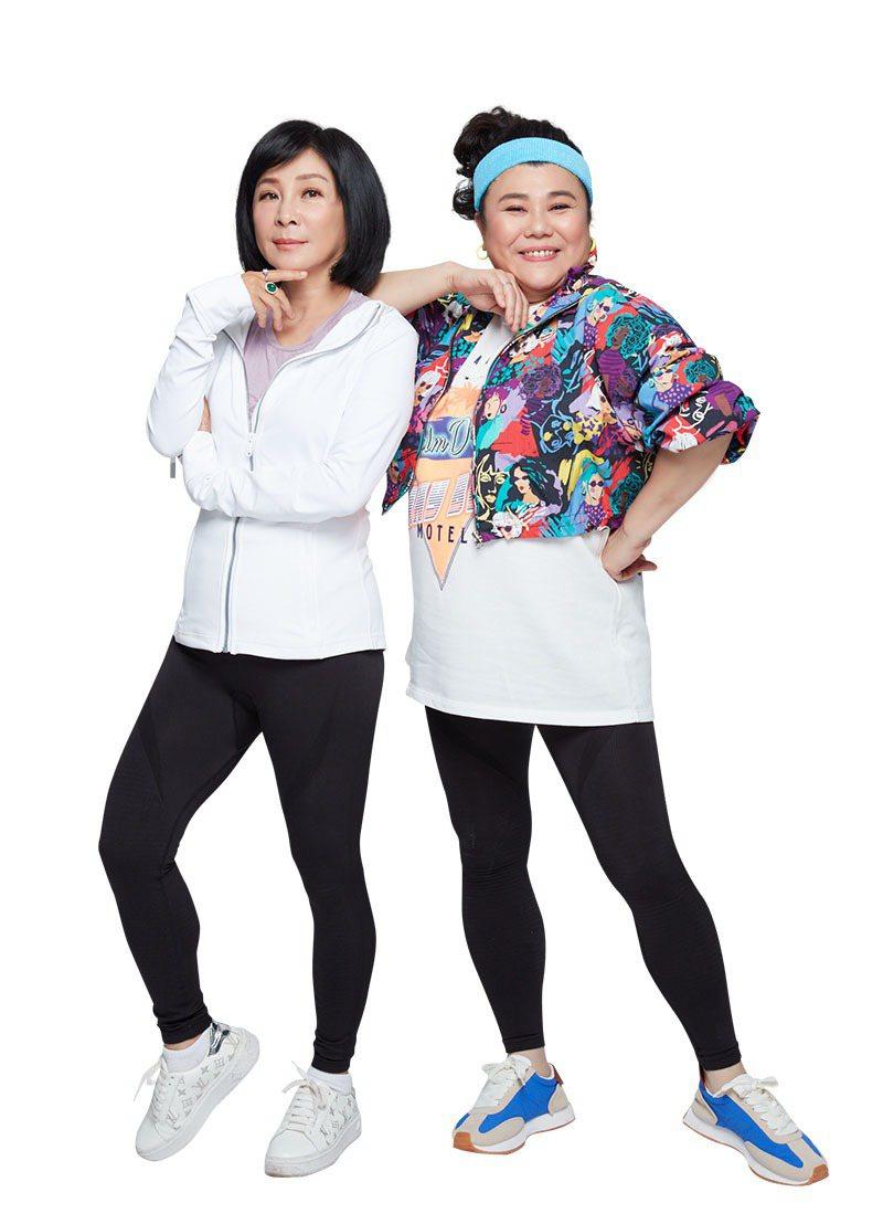 吳淡如和林美秀在演藝圈各有發展。圖/PP 石墨烯懶人塑崩褲