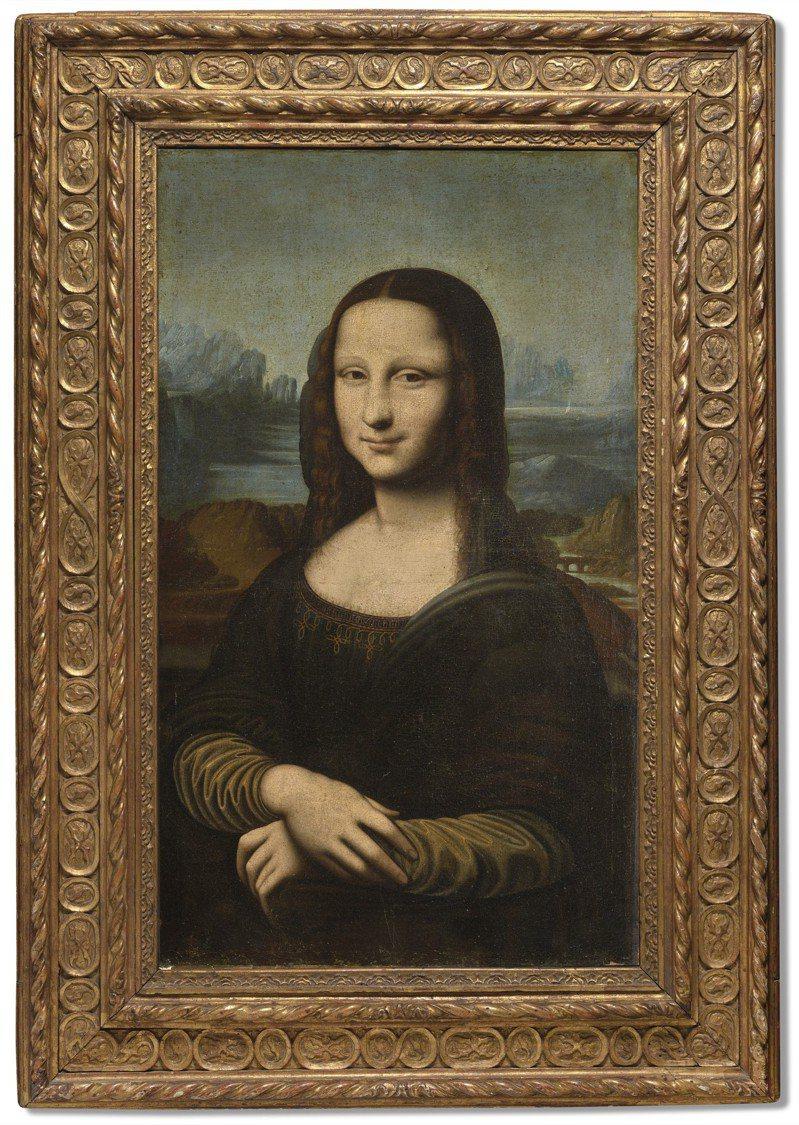 佳士得宣布11日起將在網上拍賣「蒙娜麗莎的微笑」的複製畫「赫金的蒙娜麗莎( Hekking's Mona Lisa)」。圖/佳士得提供