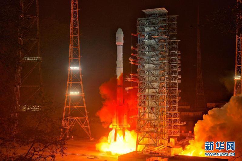 大陸發射風雲四號B星,衛星進入預定軌道。新華社