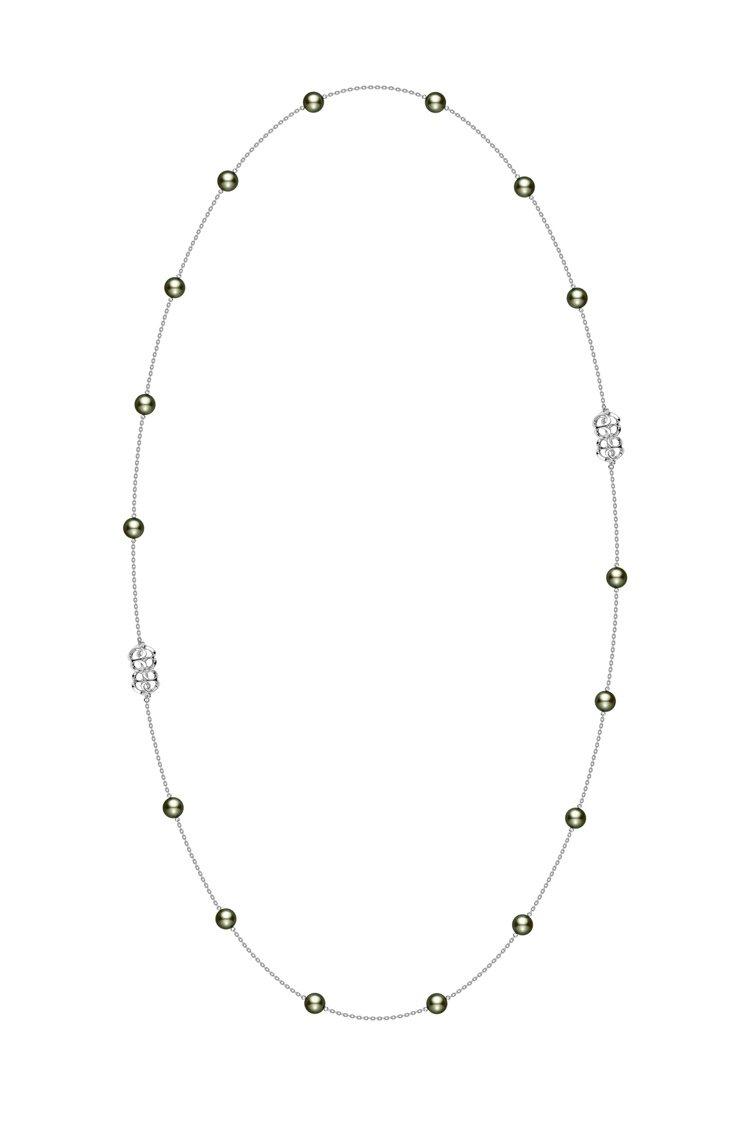 Mikimoto Double Eight系列黑珍珠鍊結項鍊將於台北101旗艦店...