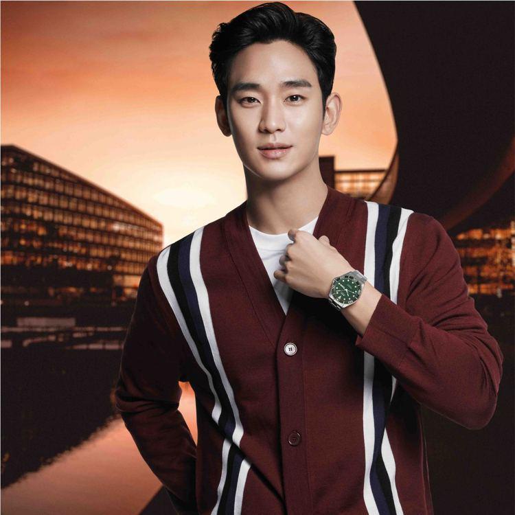 美度(MIDO)今年宣布全新品牌好友,由韓國人氣男星金秀賢斯文加盟。圖 / MI...