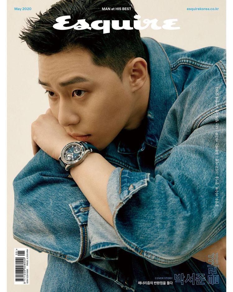 朴敘俊去年配戴萬寶龍手表登上男性時尚雜誌封面。圖 / 翻攝自 ig @ bn_s...