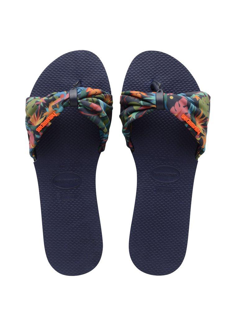 哈瓦仕You Saint Tropez拖鞋1,350元。圖/Havaianas提...