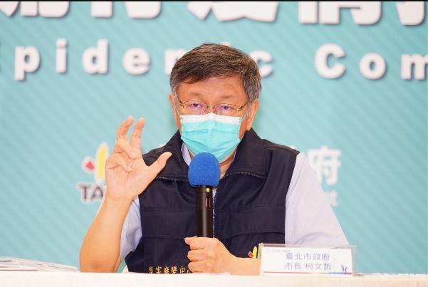 台北市長柯文哲今天坦言,工人宿舍的確是防疫弱點,所以就是先要求大家吃飯,就不要在餐廳吃。圖/北市府提供