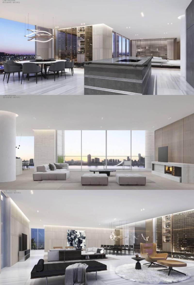 IU所購買的豪宅內部裝修,簡潔又富有現代感。圖/摘自ETERNO清潭官網