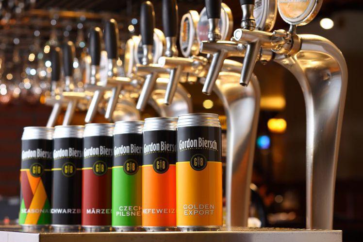iCan罐裝啤酒500毫升,75折優惠價248元。圖/GB鮮釀餐廳餐廳提供 ※...