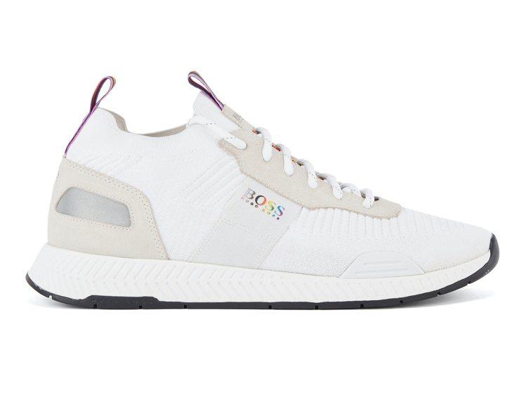 BOSS Pride限量系列白色球鞋,8,900元。圖/BOSS提供