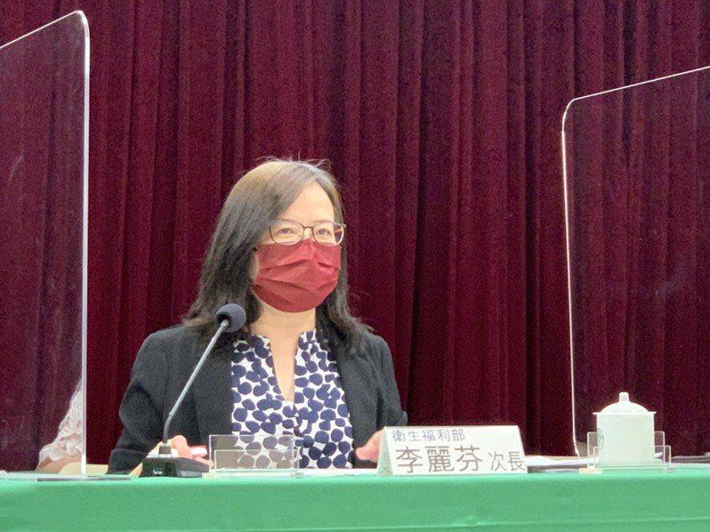 衛福部次長李麗芬今說明衛福部紓困4.0五大措施。記者陳雨鑫/攝影