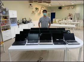 昌福國小共申請17台電腦提供學生使用。台北市電腦公會/提供