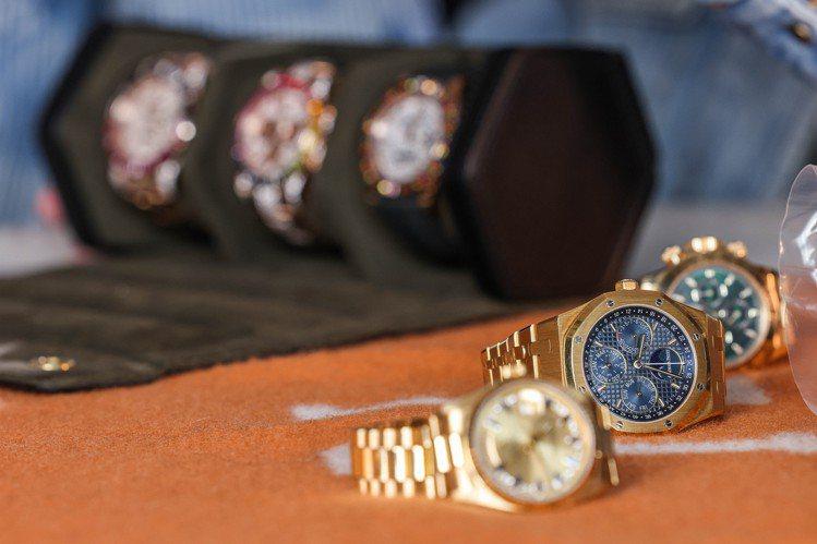 愛彼的萬年曆腕表,是Jeffrey的心頭好。攝影/吳致碩