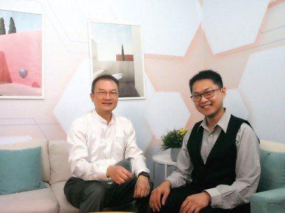 理財周刊發行人洪寶山(左)、林漢克(右)