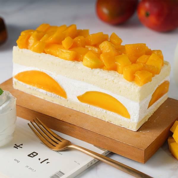 基隆溫莎堡烘焙坊的極品芒果長蛋糕。業者/提供