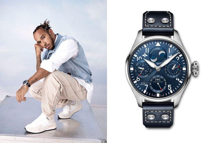 Lewis Hamilton近日拍攝IWC全新形象廣告,並戴上多款大型飛行員腕表...