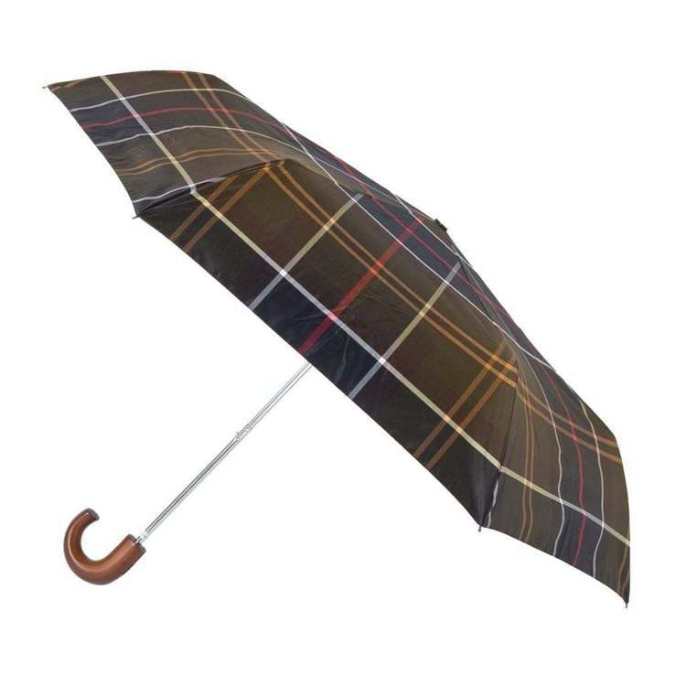 Barbour經典格紋折傘1,800元。圖/Barbour提供