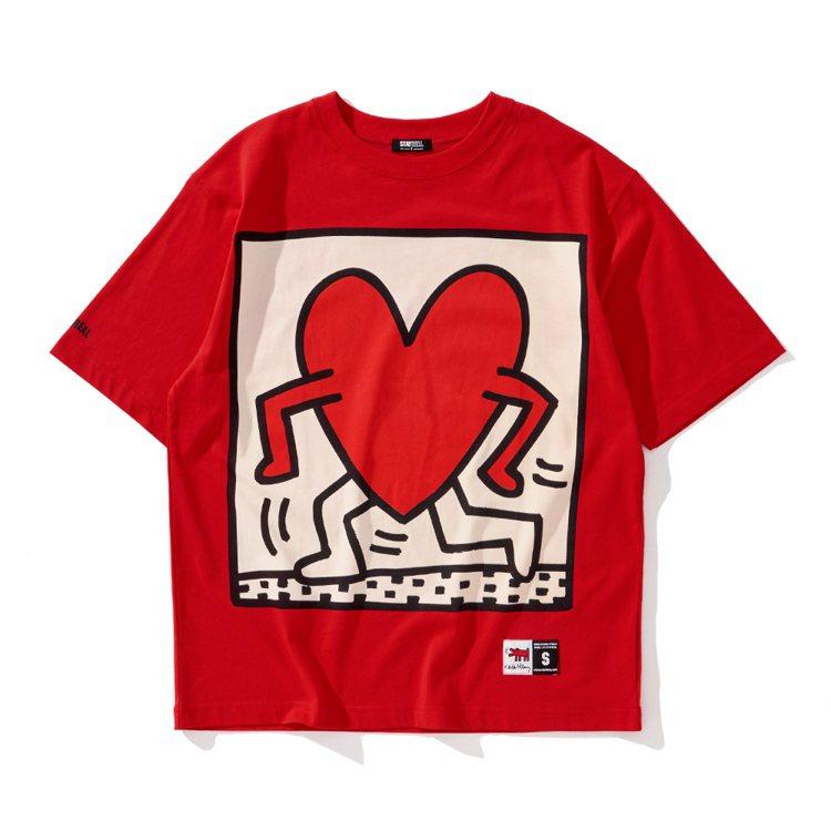 Stayreal與Keith Haring聯名系列奔跑吧愛心小人T恤1,480元...