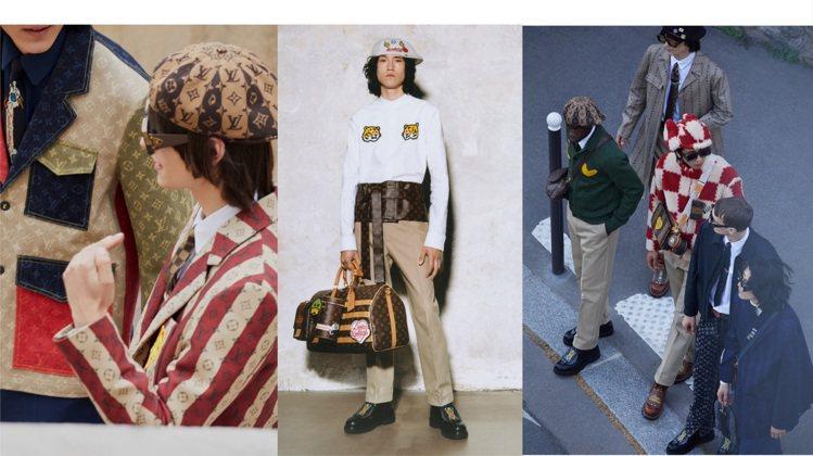 路易威登推出新穎時髦的LV²系列早春男裝。圖/LV提供