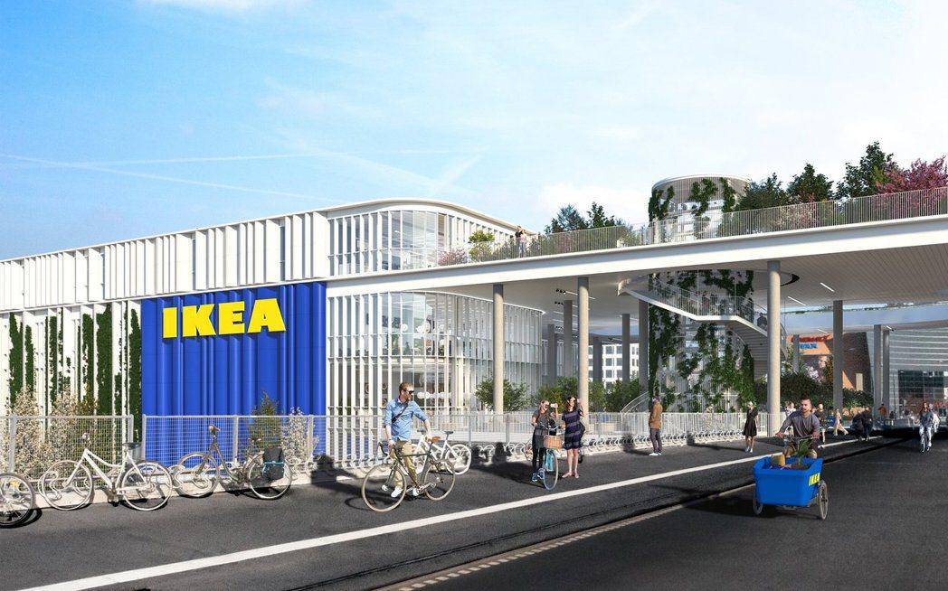 IKEA哥本哈根新店,減少經典色調,改以白色調與透明感為主。圖/Dorte Ma...