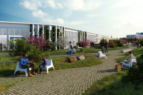 IKEA在哥本哈根,打造全新店型。圖/Dorte Mandrup提供