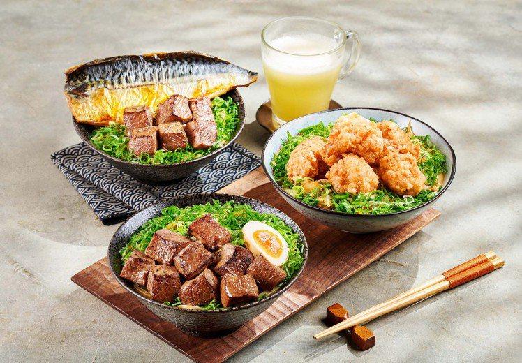 「藝奇」選用台灣冠軍馥米加入高湯炊煮,8款丼飯海陸全包。圖/王品集團提供