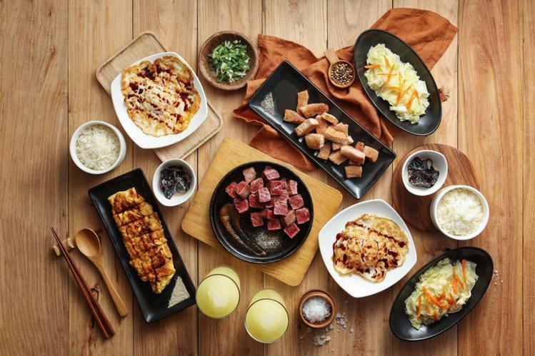 「hot 7」激量香煎原塊牛排套餐,選用超過7盎司重的牛板腱,搭配兩種鐵板香煎蔬...