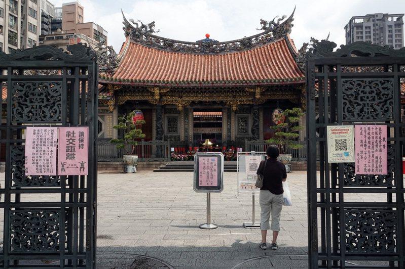 疫情下的龍山寺。圖/聯合報系資料照片