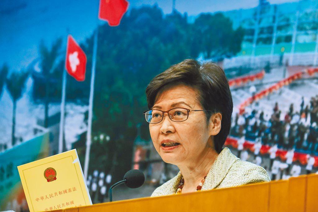 香港特區政府行政長官林鄭月娥。中新社資料照片
