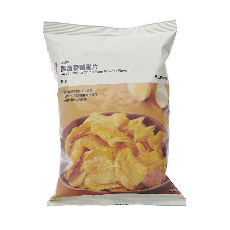 無印良品國產番薯脆片/49元。圖/MUJI無印良品提供