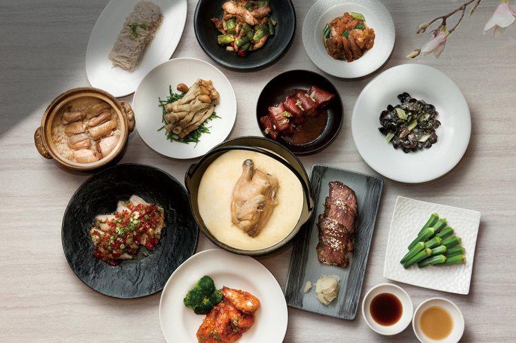 台北喜來登請客樓「米其林四人餐」也可外送到家。圖/台北喜來登提供