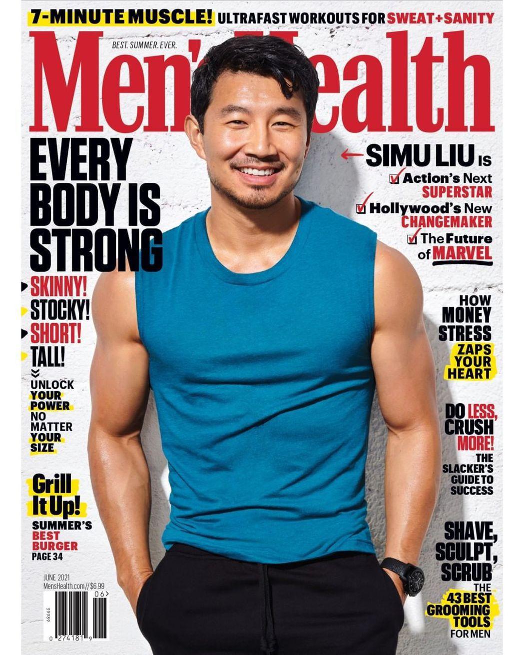 漫威安排劉思慕登上健身雜誌封面,為他強力造勢。圖/摘自IG