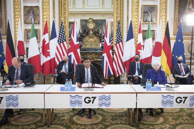 G7財金首長5日在英國達成歷史性協議,同意將全球性最低企業稅率定為15%。  美...