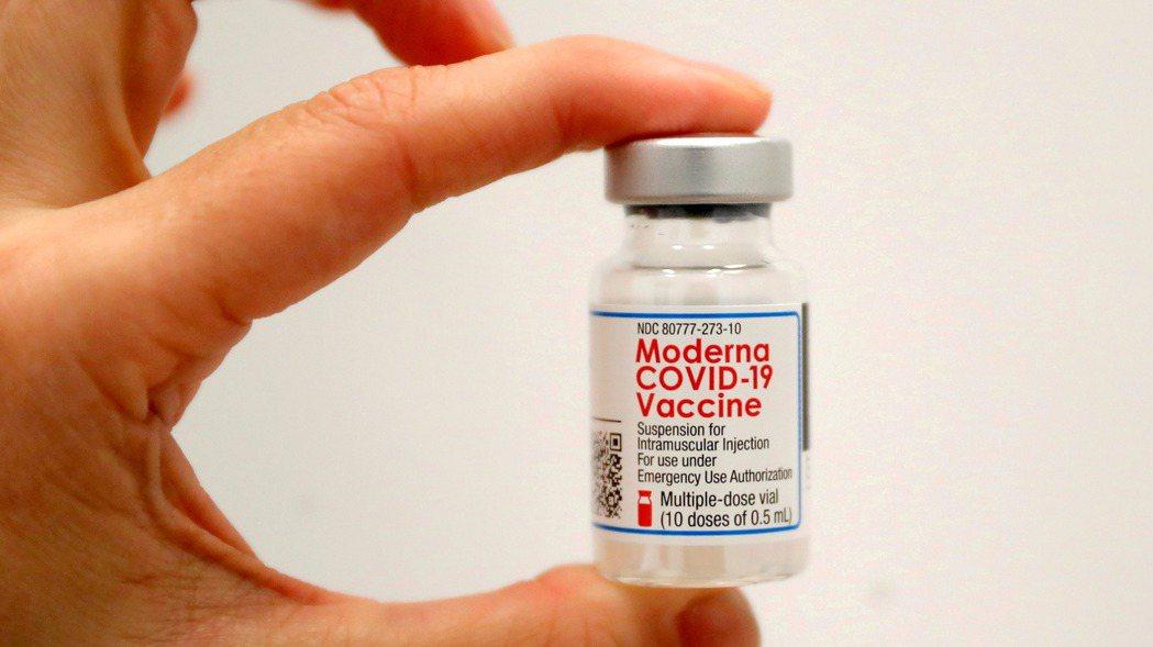 美國莫德納新冠疫苗。(路透)