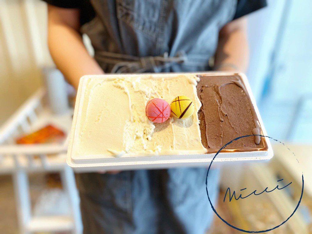 因應疫情米淇也暫停內用服務,將冰淇淋改為帶蓋的杯裝式、以及一公升盒裝,盒裝更讓全...
