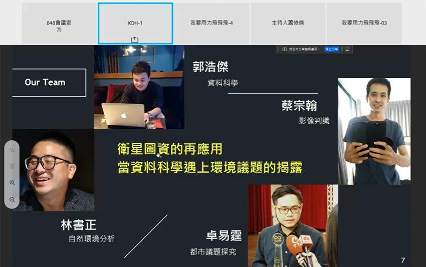 2021台灣太空黑客松創意發想大賽由KOH隊奪冠。 國研院/提供