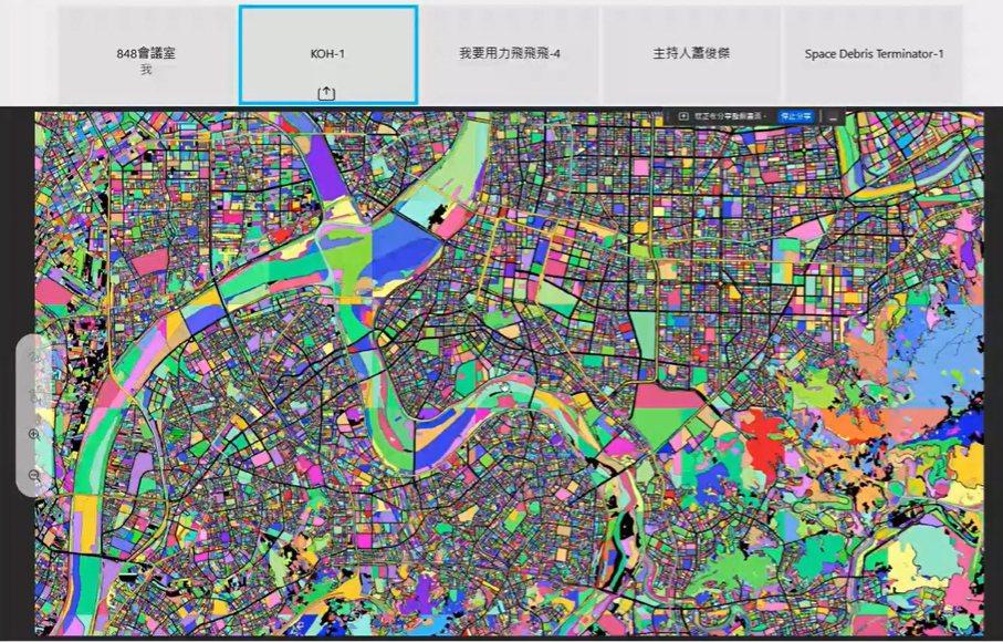 第一名團隊KOH的主題是「衛星資料視覺化的藝術」。 國研院/提供